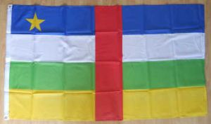 Central Africa Republic Large Country Flag - 3' x 2'.